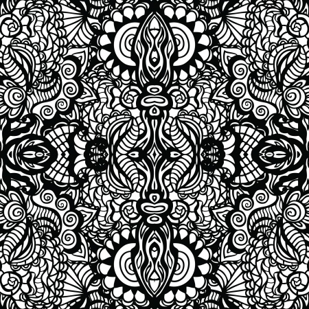 motif abstrait arrondi coloriage